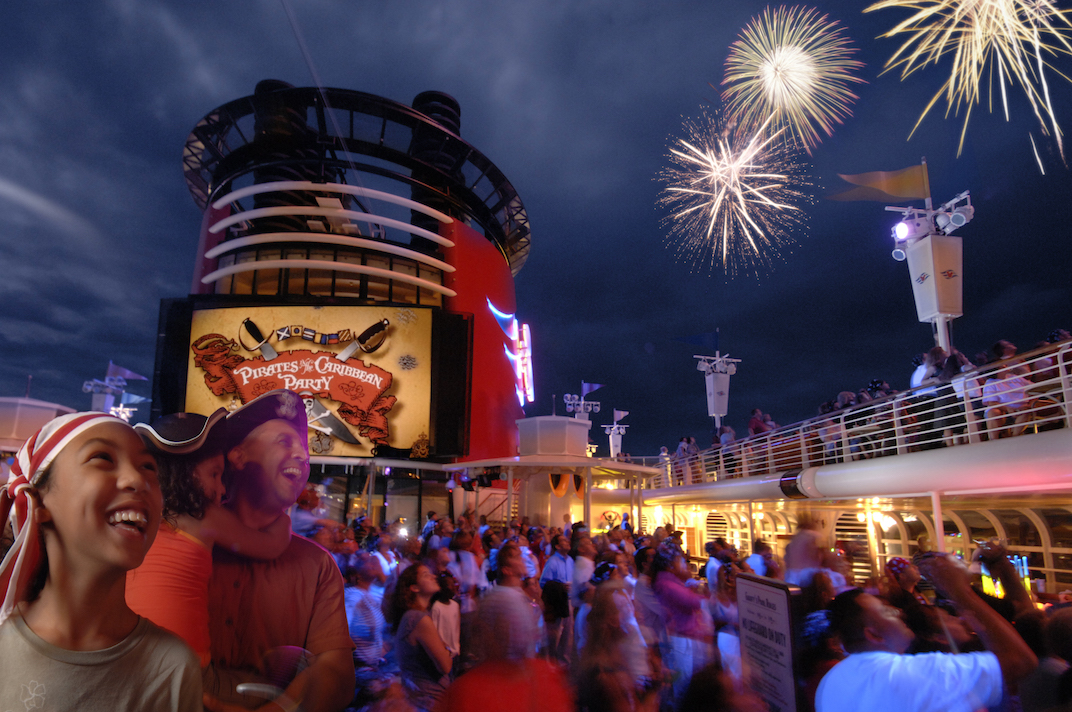 Disney Cruise Line - Pirates IN the Caribbean Deck Party